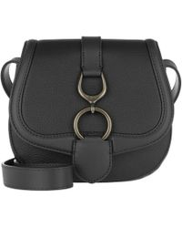 Lauren by Ralph Lauren - Barrington Crossbody Bag Pebbled Leather Black - Lyst
