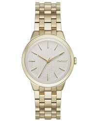 DKNY - Park Slope Watch Light Gold - Lyst
