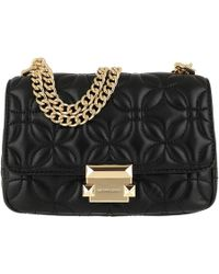 9e871055d83d Michael Kors Sloan Sm Chain Shoulder Bag Black in Black - Lyst