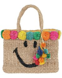 Serpui - July Smiley Shopping Bag Natural - Lyst