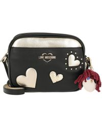 Love Moschino Hearts Embellished Crossbody Bag in Gray - Lyst c9dc35b4645a7
