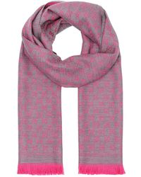 d6a7ae929d3 Gucci Sten Pink Jacquard Wool Scarf in Pink - Lyst