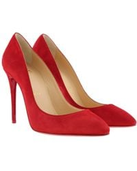 60f700bba587 Christian Louboutin - Eloise 100 Court Shoes Veau Velours Loubi Red - Lyst