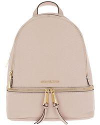 6278eae289aa18 Michael Kors - Rhea Zip Medium Backpack Soft Pink - Lyst