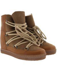 Étoile Isabel Marant - Nowles Snow Ankle Boots Camel - Lyst
