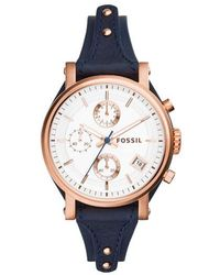 Fossil - Original Boyfriend Watch Navy - Lyst