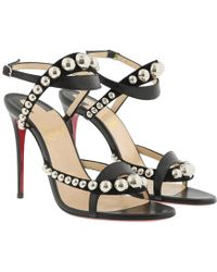 50b72e0c7ee Christian Louboutin Seferme 100 Veau Velours/calf in Black - Lyst