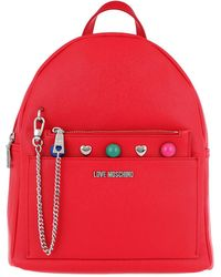 Love Moschino | Backpack Coloured Studs Rosso | Lyst