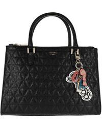 9c0a2ce829b9 Guess Sissi Satchel Bag Black in Black - Lyst