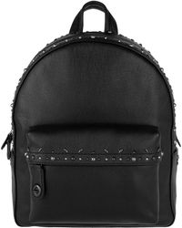 COACH - Campus Backpack With Pairie Rivets Black/black Copper - Lyst