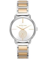Michael Kors - Ladies Portia Watch Silber/gold - Lyst