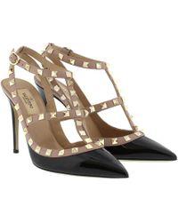 Valentino - Rockstud 100 Ankle Strap Heels - Lyst