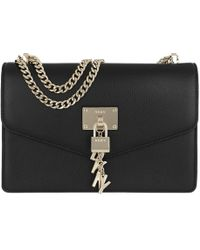 DKNY - Elissa Lg Shoulder Bag Black gold - Lyst 33d6cb609f2b5