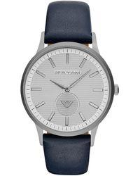 Emporio Armani - Mens Watch Silver/grey/white - Lyst