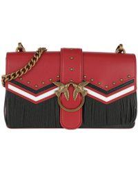 Pinko - Love Tricolor Crossbody Bag Rosso/nero/bianco - Lyst