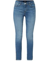 Pieces - Stone Washed Skinny Fit Jeans - Lyst