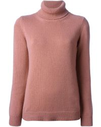 Valentino Funnel Neck Sweater - Lyst