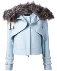 Wes Gordon - Fox Fur Trimmed Hooded Jacket - Lyst