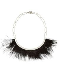 Isabel Marant Feather-Trimmed Necklace - Lyst