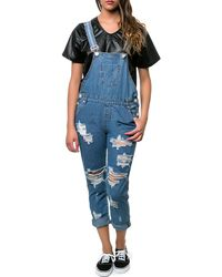 One Teaspoon The Zeppelin Awesome Overalls - Lyst