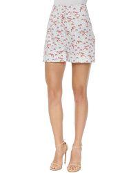 Carolina Herrera High-Waisted Mushroom-Print Shorts - Lyst
