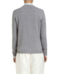 Mulberry Jewelled Button Cardigan - Lyst