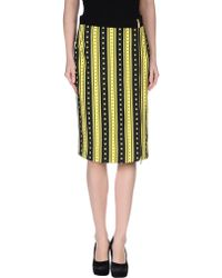 Emanuel Ungaro Knee Length Skirt yellow - Lyst