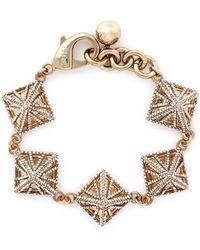 Lulu Frost Crystal Pavé Pyramid Bracelet - Lyst