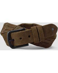 AllSaints Drift Belt brown - Lyst