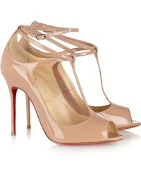Christian Louboutin Talitha 100 Patent-Leather Pumps - Lyst