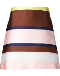 MSGM Striped A-Line Skirt - Lyst