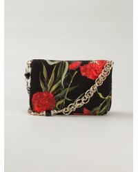 Dolce & Gabbana Small Carnations Printed Shoulder Bag - Lyst