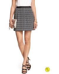 Banana Republic Factory Textured Print Skirt - Lyst