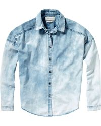 Maison Scotch - Fringe Denim Shirt - Lyst
