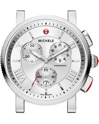 Michele - Sport Sail Stainless Steel Watch Head & 20Mm Gray Perforated Leather Strap - Lyst