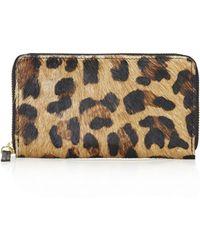 Topshop Womens Pony Leopard Wallet  Brown - Lyst