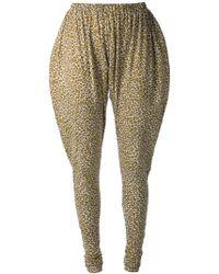 Labour Of Love Leopard Print Harem-Style Leggings - Lyst