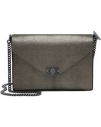 Mulberry Delphie Metallic-Leather Shoulder Bag - Lyst