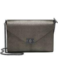 Mulberry Delphie Metallic-Leather Shoulder Bag silver - Lyst