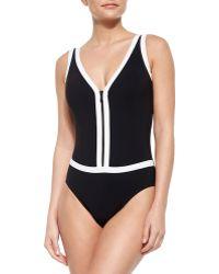 Gottex Zip It Up One-Piece Swimsuit - Lyst