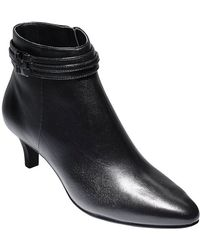 Cole Haan Tamera Leather Booties - Lyst