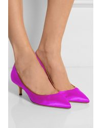 Brian Atwood Degas Satin Pumps - Lyst