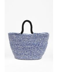 French Connection Woven Beach Bag - Lyst