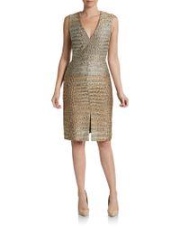 Stella McCartney Croco-jacquard Sheath Dress - Lyst