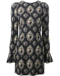 Dolce & Gabbana 'Sacred Heart' Print Dress black - Lyst