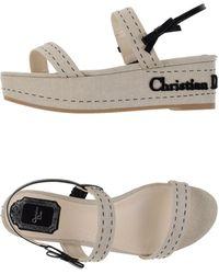 Dior Sandals beige - Lyst