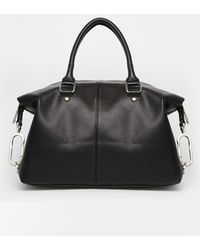 Asos Clean Slouch Bowler Bag with Oversized Dog Clip - Lyst