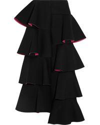 Marni Ruffled Scubajersey Midi Skirt - Lyst