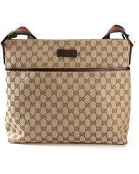 Gucci Signature Monogram Cross Body Bag - Lyst
