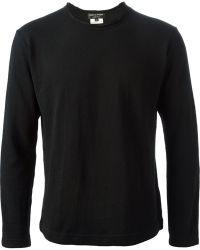 Comme Des Garçons Quilted Back Patch Sweatshirt - Lyst